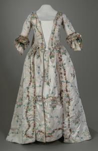 Dress worn at the Englsih court of George III, ca. 1775