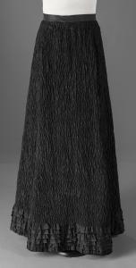 Crepe mourning skirt, ca. 1900