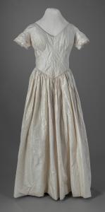 Moire silk dress, ca. 1848