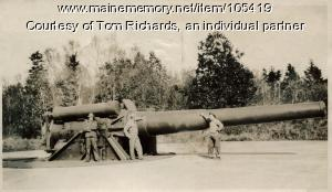 12-inch disappearing gun, Cushing Island, 1930