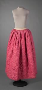 Bright pink petticoat, ca. 1780