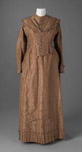 Emma W. Farrington's wedding dress, Holden, ca. 1861