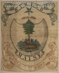 Maine Militia Flag, circa 1828