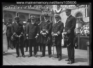 Naval Officers at City Hall, Portland, 1920