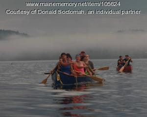Ancestral canoe journey, Motahkomikuk (Indian Township), 2019