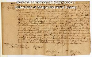 Lease agreement on patent owned by Gorges and Mason, Kittery, 1637