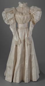 Jessie Carter's wedding dress, Bath, ca. 1896