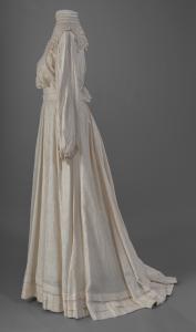 Eleanor M. Hennessey's graduation dress, Portland, ca.1896