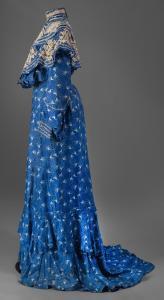 Annie Moriarty's colbalt blue dress, Lewiston, ca. 1905