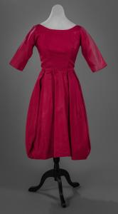 Rayon taffeta dress, ca. 1960