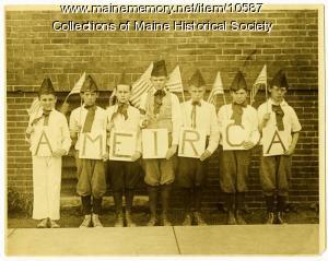 Chapman School patriotism, Portland, ca. 1920