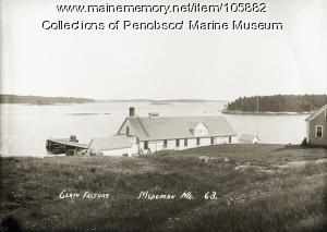 Clam factory, Medomak, ca. 1915