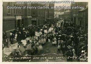 Temperance march in Bangor, 1909