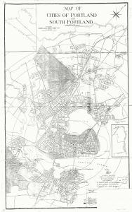 Redline map of Portland and South Portland, 1935