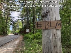 Black Lives Matter sign, Brunswick, 2020