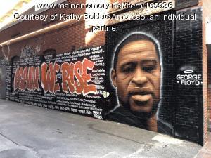 George Floyd mural, Portland, 2020