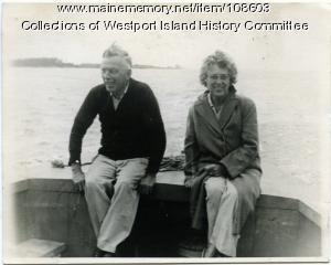 Relaxing on the Sheepscot River, Westport Island, 1946