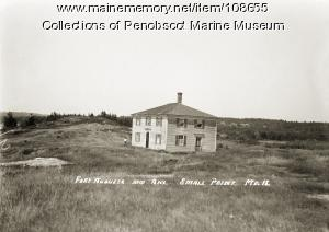 Fort Augusta and annex at Small Point, Phippsburg, ca. 1910