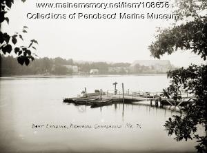 Boat landing at Richmond Campground, Richmond, ca. 1910