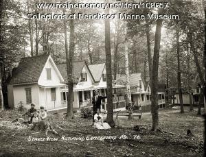 Street view of Richmond Campground, Richmond, ca. 1910