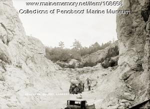 Feldspar quarry, Georgetown, ca. 1935
