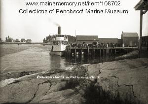 """""""Southport"""" steamship at Five Islands, Georgetown, ca. 1915"""