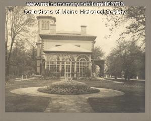"""John Bundy Brown's home, """"Bramhall,"""" Portland, ca. 1900"""