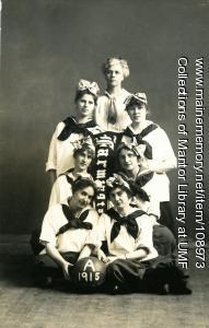"Farmington State Normal School women's basketball ""A"" team, 1915"