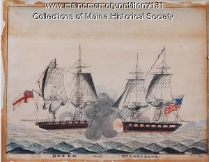 "The ""Boxer"" and ""Enterprise,"" Monhegan, 1831"