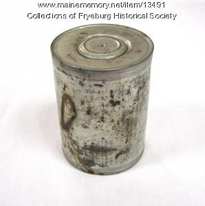 Corn can from Fryeburg