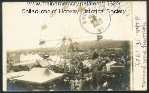 Midway, Oxford County Fair, 1907