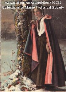 Evangeline in the Snow postcard