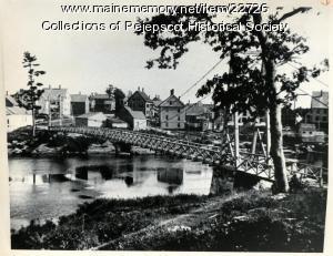 Brunswick-Topsham pedestrian bridge, ca. 1920
