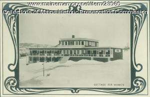 Cottage for women, Maine State Sanatorium, Hebron, ca. 1909