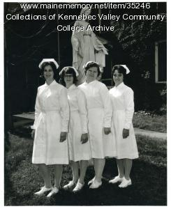 Maine School of Practical Nursing class officers, Waterville, 1965