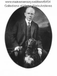 Governor Baxter and His Dog, ca. 1921
