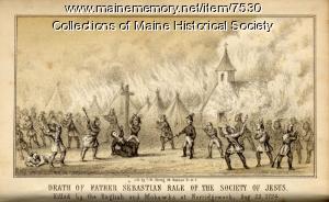 'Death of Father Sebastian Rale,' 1856