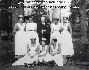 Nursing students, Eastern Maine General Hospital, ca. 1898