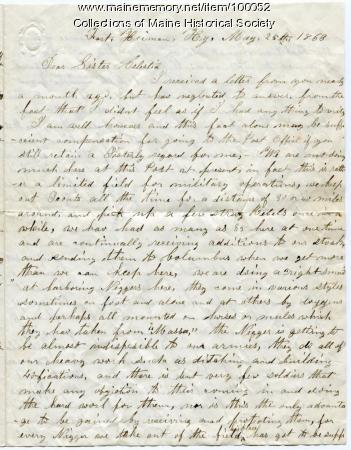 John O. Crummett letter about black soldiers, war, Kentucky, 1863