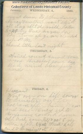 John Young Merrill diary, Leeds, 1860
