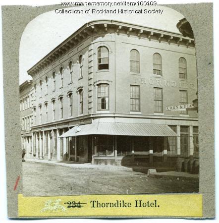 Thorndike Hotel, Rockland, ca. 1875