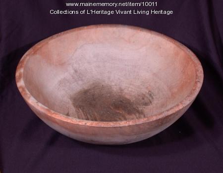 Wooden butter bowl