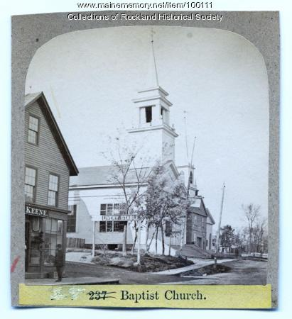 Baptist Church, Rockland, ca. 1875