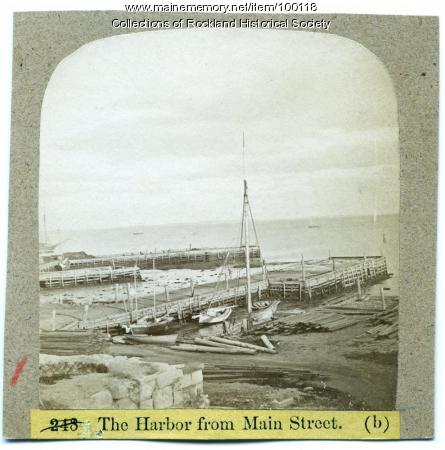 Harbor from Main Street, Rockland, ca. 1875