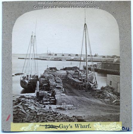 Gay's Wharf, Rockland, ca. 1875