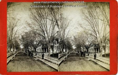 Middle Street west from Main Street, Rockland, ca. 1875