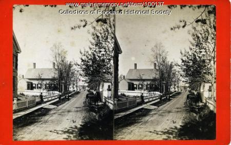 Granite Street west from Main Street, Rockland, ca. 1875