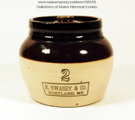 Swasey bean pot, Portland, ca. 1900