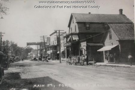 Main Street, downtown Fort Kent
