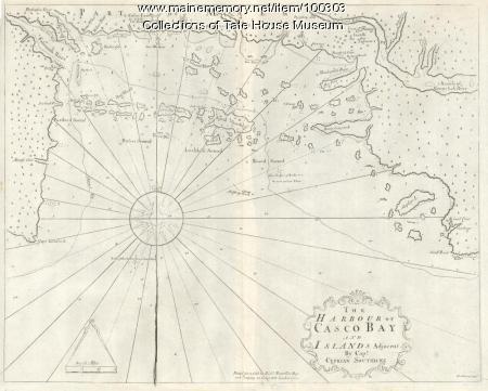 Harbour of Casco Bay, Portland, 1720